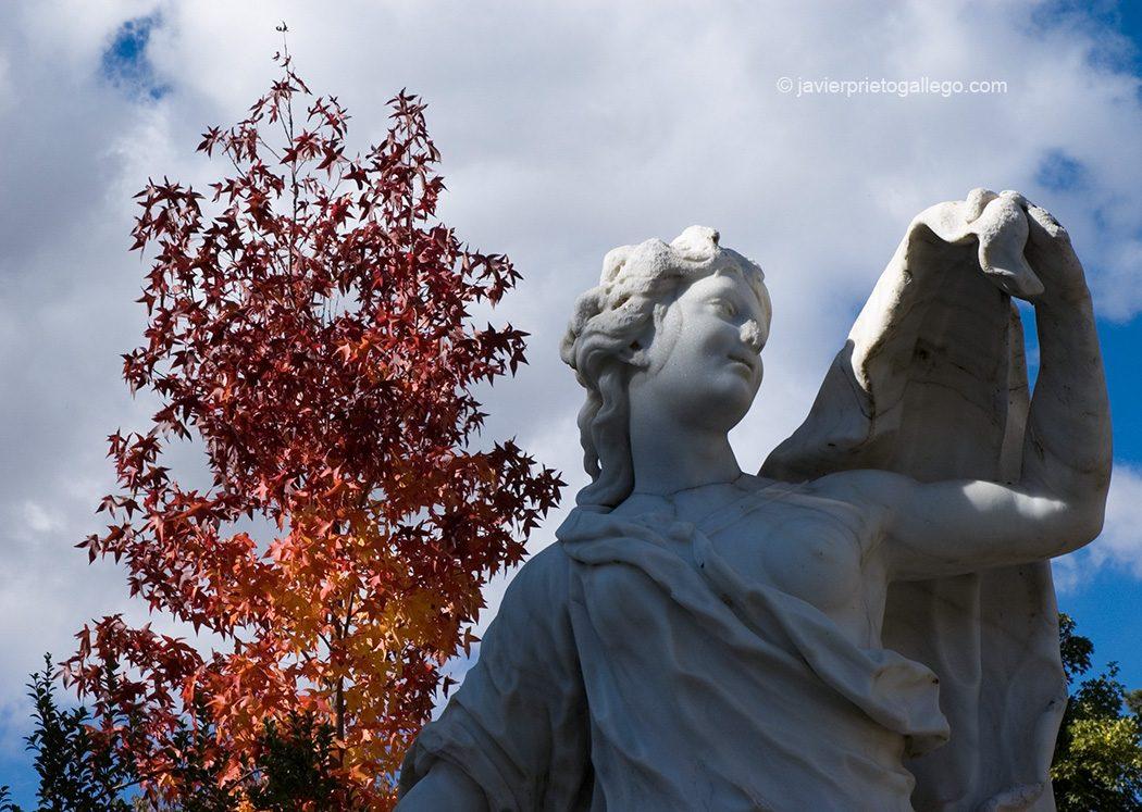 Estatua junto al Bosquete de La Selva. Jardines del Palacio Real de La Granja de San Ildefonso. Segovia. España. © Javier Prieto Gallego