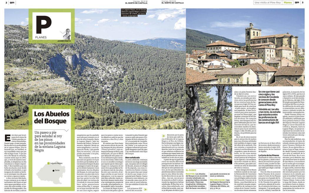 Reportaje de Javier Prieto Gallego publicado en EL NORTE DE CASTILLA.