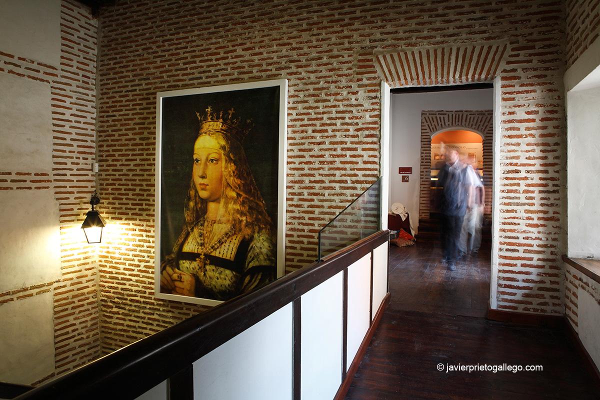 Retrato de Isabel la Católica en el interior del Palacio Real Testamentario de Medina del Campo. Valladolid. Castilla y León. España. © Javier Prieto Gallego