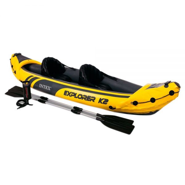 Set de kayak hinchable y 2 remos, Intex Explorer K2