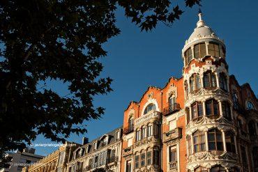 Casa del Príncipe, construida en 1906 y ejemplo de la arquitectura residencial burguesa en Valladolid. Se encuentra situado en el número 11 de la calle de la Acera de Recoletos. Valladolid. Castilla y León. España. © Javier Prieto Gallego;
