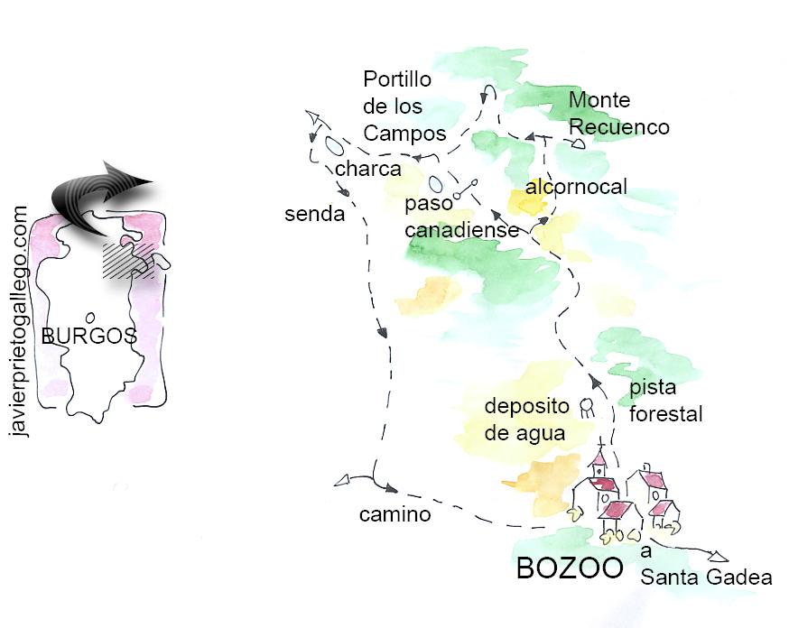 Croquis del Sendero de Bozoo © Javier Prieto Gallego