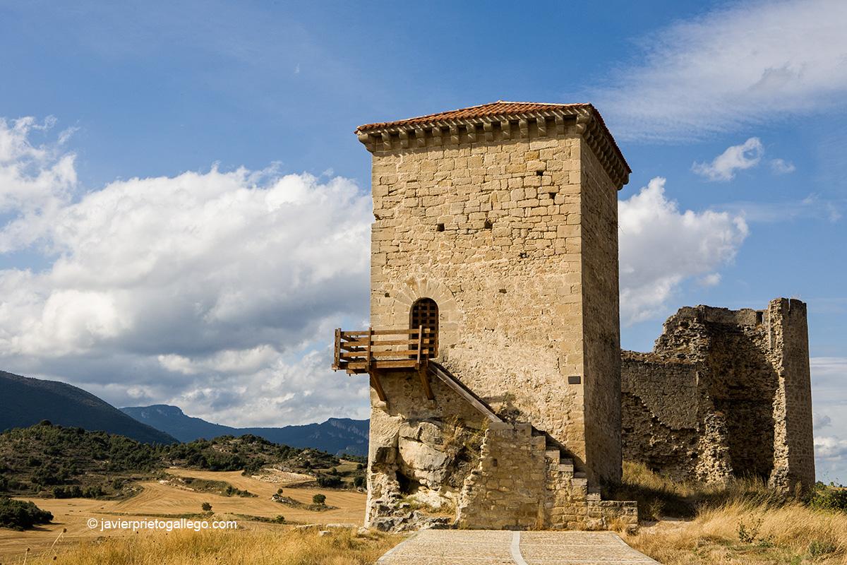 Torre del castillo. Localidad de Santa Gadea del Cid. Burgos. Castilla y León. España. © Javier Prieto Gallego
