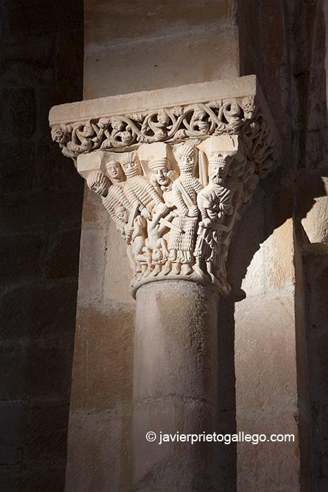 Capitel de la Matanza de los Inocentes. Ermita de Santa Cecilia. Aguilar de Campoo. Palencia. Castilla y León. España © Javier Prieto Gallego