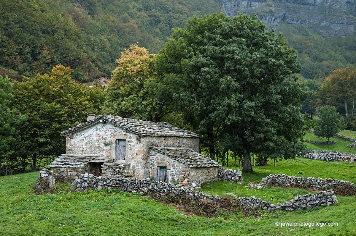 Cabaña pasiega. Valles pasiegos burgaleses. Burgos. Castilla y León. España © Javier Prieto Gallego