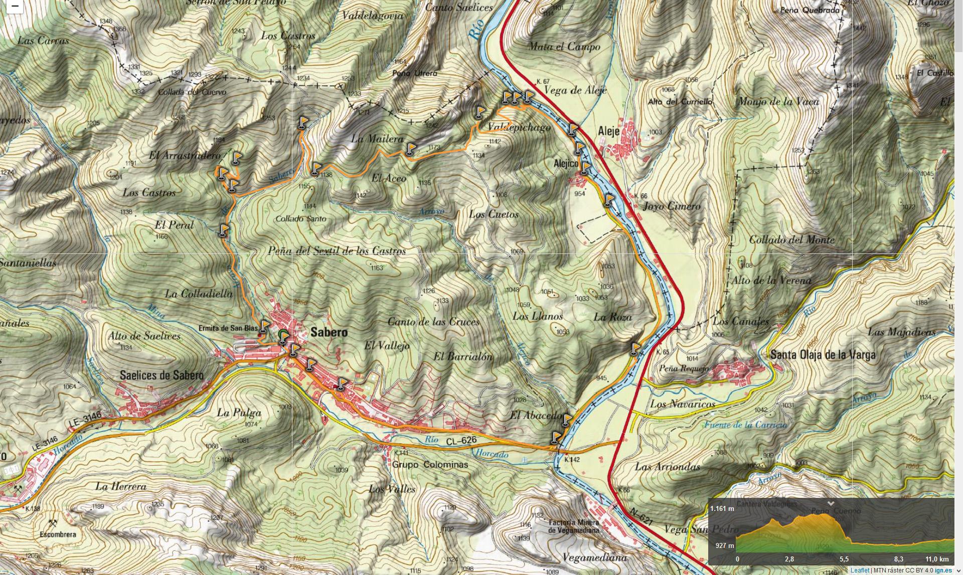 Mapa del paseo.